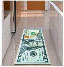 100 dollar bill rug nonslip area runner