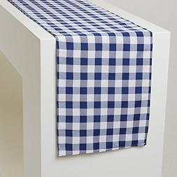 GFCC 13 x 108-Inch Checkered Table Runner, Thanksgiving Chri