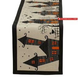 """Dii 14X72"""" Cotton Table Runner, Haunted House - Perfect For"""