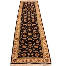 2 ft 6 in x 10 ft Black runner rugs for sale Traditional 300