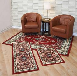 Throw Rugs 3 Piece Set For Living Room Bedroom Area Floor Ma