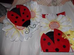 4 Ladybug And Daisy Table Place mats And One Runner by Colle