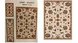 Oriental Weavers 5 x 7 Ivory Floral/Botanical Area Rug,accen