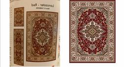 Oriental Weavers 5 x 7 Red Medallion Global Area Rug,accent,