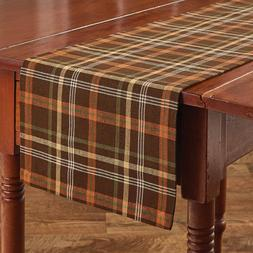 Country Bountiful Table Runner 13x36 Brown Green Orange Yell