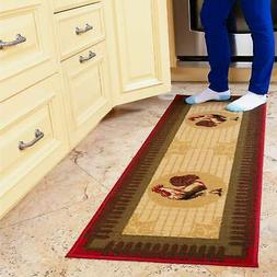Ottomanson Siesta Collection Kitchen Rooster Design  Runner