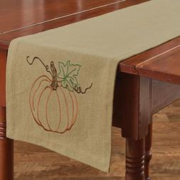 Rustic Pumpkin Table Runner 13x54 Primitive Country Fall Aut