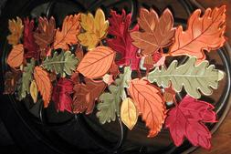 Thanksgiving Fall Decor Table Runner Autumn Leaves Collage C