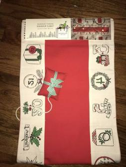 Isaac Mizrahi Advent Calendar Table Runner