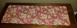 """At Home America Homestead Paisley 36"""" Quilted Table Runner N"""