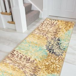 Boarders Rugs Anti-Bacterial Rubber Back  Runner Non-Skid/Sl