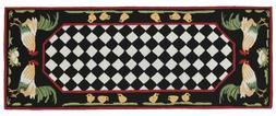 "AREA RUGS - ""FRENCH COUNTRY ROOSTER"" INDOOR OUTDOOR RUG - 24"