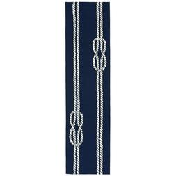 AREA RUGS - NAUTICAL KNOTS INDOOR OUTDOOR RUG - NAVY - 2' x