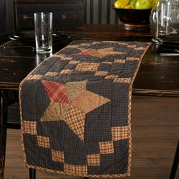"""ARLINGTON 36"""" Table Runner Rustic Primitive Quilted Patchwor"""