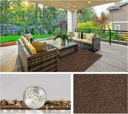 Brown - Turftime Indoor/Outdoor Artificial Turf Area Rugs, R