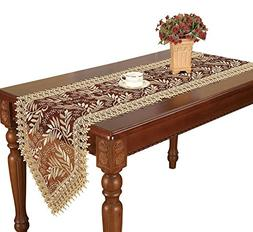 Simhomsen Burgundy Lace Table Runners And Dresser Scarves Em