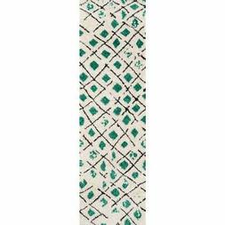 by momeni bungalow green ivory grid rug