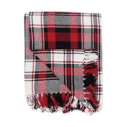 C&F Home Fireside Cotton Woven Red and Black Christmas Holid