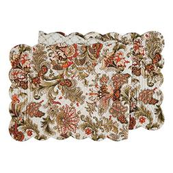 CFF Jocelyn Table Runner 14x51 inches Quilted Reversible by