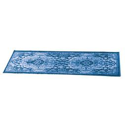 Classic Medallion Design Accent Rug with Skid-Resistant Back