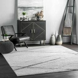 nuLOOM Contemporary Modern Geometric Solid and Striped Area