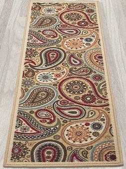 Throw Rug Contemporary Multi Paisley Pattern Ornamental Acce