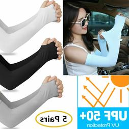 Cooling Sleeves Arm Cover UV Cut Sun Protection Outdoor Runn