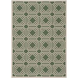 Safavieh Courtyard Collection CY6112-332 Dark Green and Beig