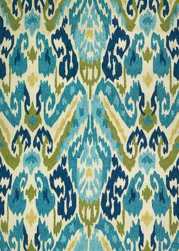"Couristan Covington 2'6"" x 8'6"" Runner Rug in Azure/Lemon 22"