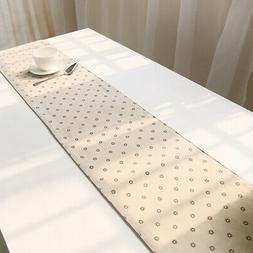 Decorative Small Flower Floral Table Runner For Dining Table