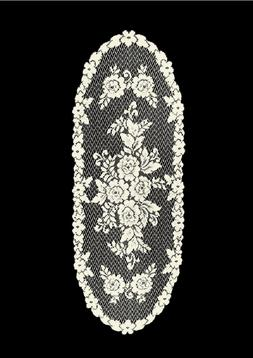 "Heritage Lace ECRU VICTORIAN ROSE 13""x36"" Table Runner"