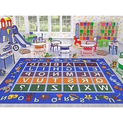 Educational Alphabet Non-Slip Kids' Area Rugs children room