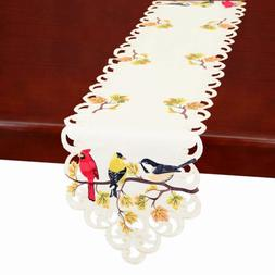 Simhomsen Fall Thanksgiving Table Runners, Colorful Birds On