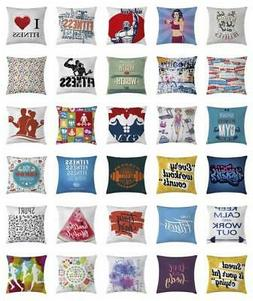 Fitness Throw Pillow Cases Cushion Covers Home Decor 8 Sizes