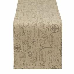 DII French Flourish Printed Table Runner