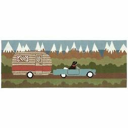 """Liora Manne FTPR5146906 1469/06 Camping Dog Green Rugs 24"""""