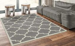 "Ottomanson Grey Runner Area Rug, 5'3"" X7'0"