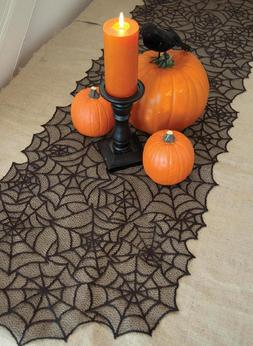 Halloween Table Runner Or Mantle Scarf ~ Spider Web - Herita