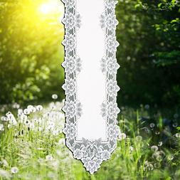 heirloom 14x54 white lace table runner