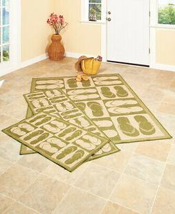 Indoor or Outdoor Pool Patio Area Rug Flip Flop Sandals Acce