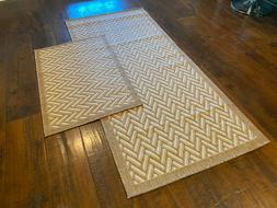 "Indoor Outdoor Geometric Area Rugs - 2'7""x 5'9"" Runner & 2'x"