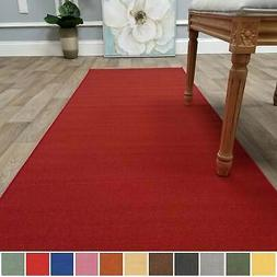 Kapaqua Solid Colored Non-Slip Runner Rug Rubber Backed 2x14