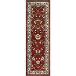 Superior Kingfield Red Floral Design with Vine Border 2.6' x