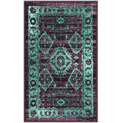 Maples Rugs Kitchen Rugs,  1'8 x 2'10 Non Slip Padded Small