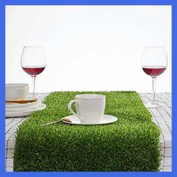 """Kunta Synthetic Grass Table Runner Approx 14"""" X 108"""" 14 In X"""
