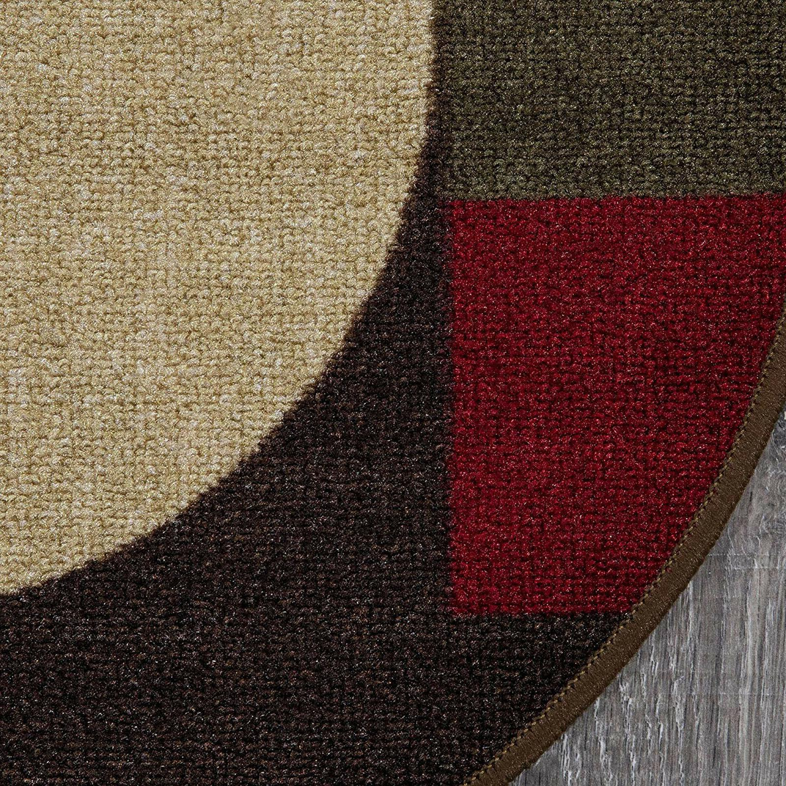 Room Rug Mat Non Oval Stain Resistant