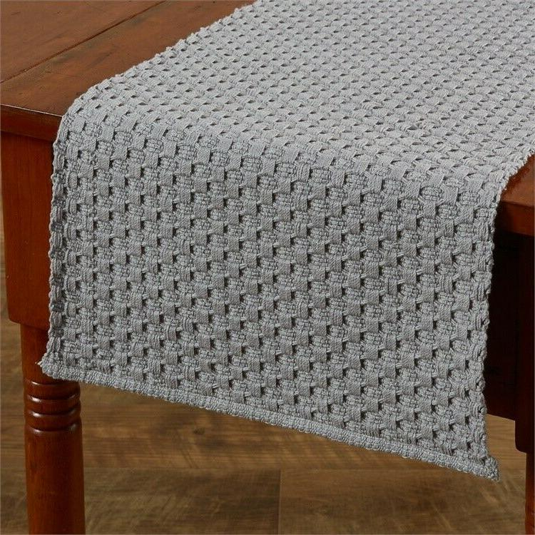 """Table Runner 36"""" L - Chadwick Mist by Park Designs - Kitchen"""