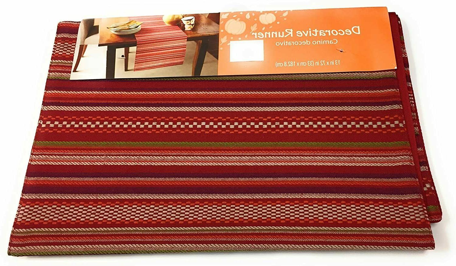 Mainstays Table taupe woven stripe