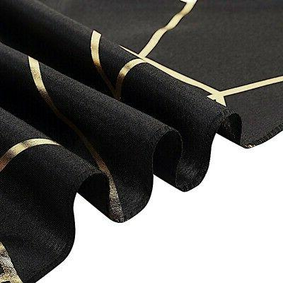 BLACK Geometric Polyester Runner Party Wedding Decorations
