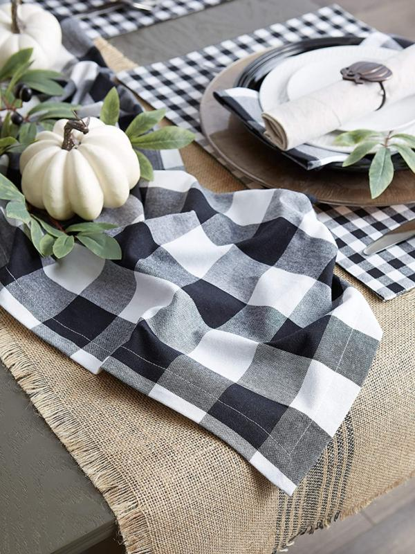 DII Cotton Table Runner Check ...